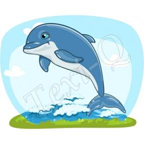 Ovis jeles kötény, hátizsák: Delfin