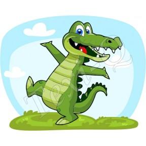Ovis jeles kötény, hátizsák: Krokodil