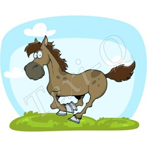Ovis jeles kötény, hátizsák: Ló