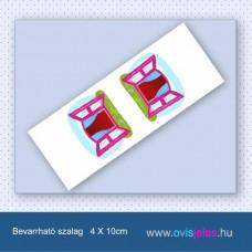 Ablak-rózsaszín -Bevarrható ovisjel szalag