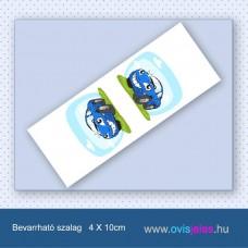 Autó-kék -Bevarrható ovisjel szalag