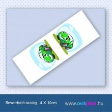 Autó-zöld -Bevarrható ovisjel szalag