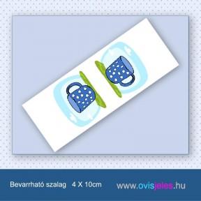 Bögre-kék -Bevarrható ovisjel szalag