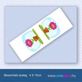 Cserepes virág -Bevarrható ovisjel szalag