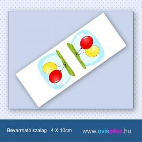 Lufi-piros-sárga -Bevarrható ovisjel szalag