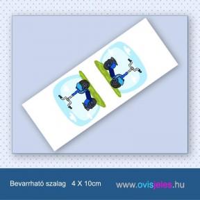 Roller-kék -Bevarrható ovisjel szalag