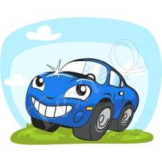 Ovis jeles kötény, hátizsák: Autó-kék