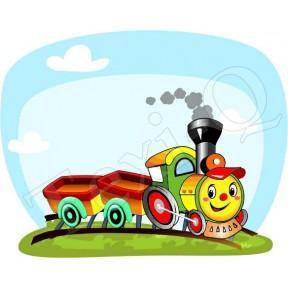 Ovis jeles kötény, hátizsák: Vonat