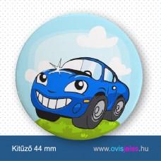 Autó-kék -ovisjel kitűző