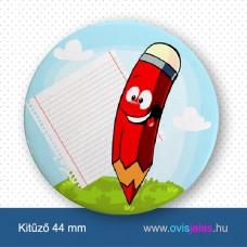 Ceruza-piros -ovisjel kitűző