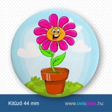 Cserepes virág -ovisjel kitűző