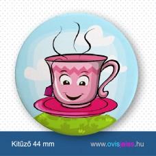 Csésze -ovisjel kitűző