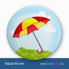 Esernyő-napernyő -ovisjel kitűző