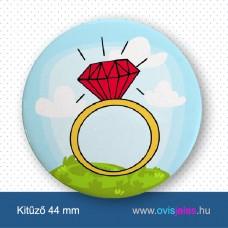 Gyűrű -ovisjel kitűző