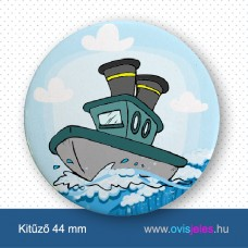Hajó -ovisjel kitűző