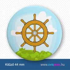 Hajókormány -ovisjel kitűző