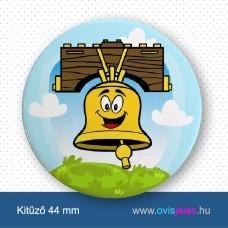 Harang-sárga -ovisjel kitűző
