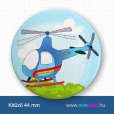 Helikopter -ovisjel kitűző