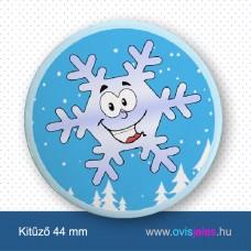 Hópehelyke -ovisjel kitűző
