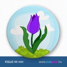 Tulipán - lila -ovisjel kitűző