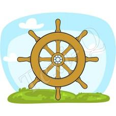 Ovis jeles kötény, hátizsák: Hajókormány