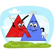 Ovis jeles kötény, hátizsák: Háromszög pár