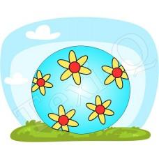 Póló: Labda-virágos