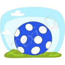 Póló: Pöttyös labda-kék