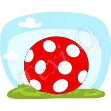 Póló: Pöttyös labda-piros