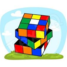 Póló: Rubik kocka