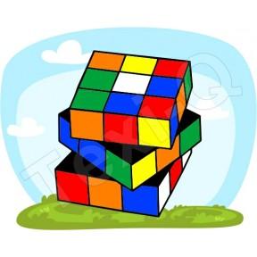 Ovis jeles kötény, hátizsák: Rubik kocka