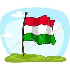 Ovis jeles kötény, hátizsák: Zászló