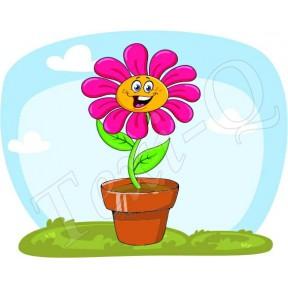 Póló: Cserepes virág