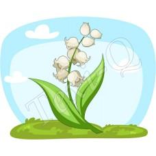 Póló: Gyöngyvirág