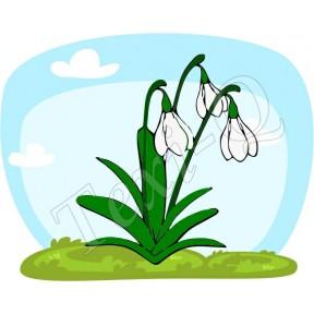 Ovis jeles kötény, hátizsák: Hóvirág