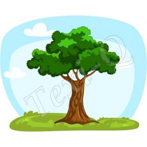 Ovis jeles kötény, hátizsák: Lombos fa