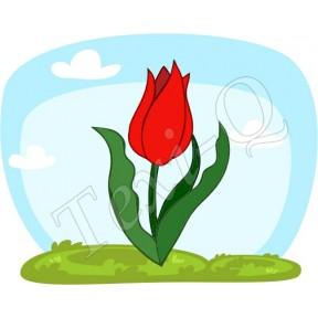 Ovis jeles kötény, hátizsák: Tulipán-piros