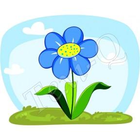 Ovis jeles kötény, hátizsák: Virág-kék