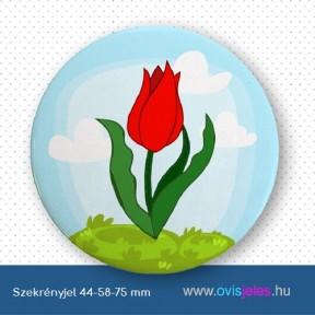 Szekrényjel, Tulipán-piros ovisjellel